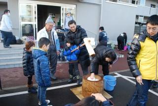 20131230(6)福島にてお餅つき6